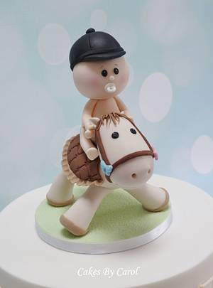 Baby Shower  Horse topper - Cake by Carol