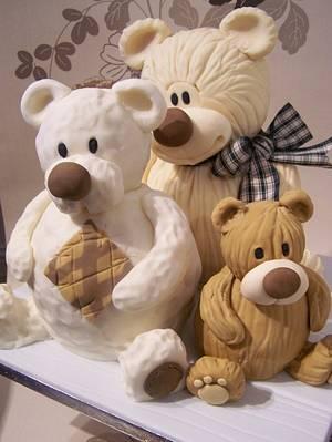 Three Teds! - Cake by SueC