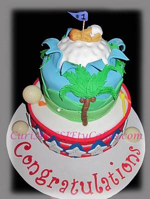 Golf / Puerto Rican theme men's baby shower cake - Cake by CuriAUSSIEty  Cakes