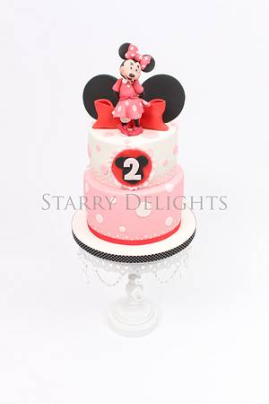Minnie Mouse cake  - Cake by Starry Delights