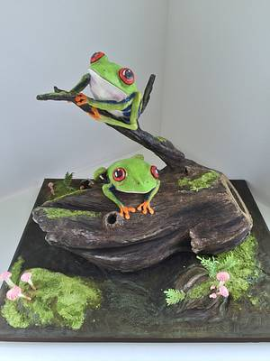 Frogs on a Log - Cake by Kristy How
