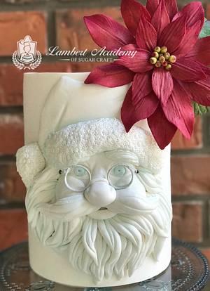 BasRelief Santa - Cake by Lesi Lambert - Lambert Academy of Sugar Craft