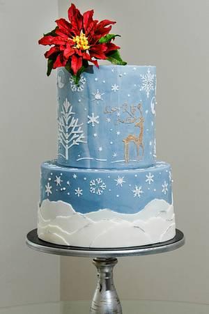 Winter Night - Cake by Leyda Vakarelov