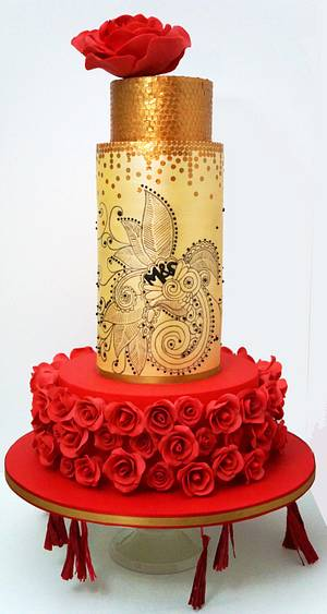 East meets West Wedding Cake - Cake by Enrique