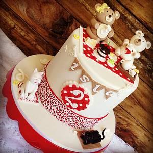 Teddy bear teddy bear - Cake by Kelli Maree