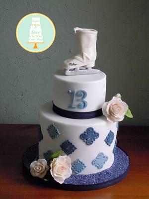 Ice Skate Cake - Cake by Sugar & Spice Cake Shop