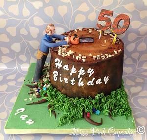 Tree Surgeon Birthday - Cake by Rachel Bosley