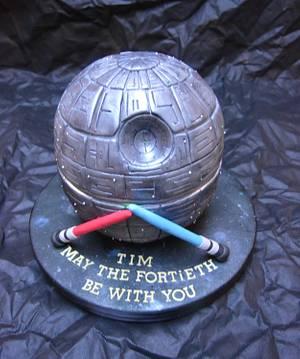 Star Wars Death Star Cake..x. - Cake by Lulu Belles Cupcake Creations