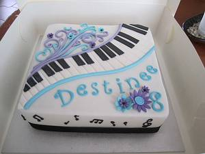 Destinee's cake - Cake by Dittle