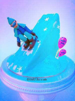 Skiing - Cake by OMG! itss a cake
