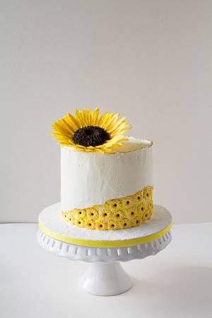 Sunflower - Cake by Dimi's sweet art