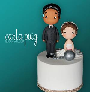 Kwaii Wedding Topper - Cake by Carla Puig