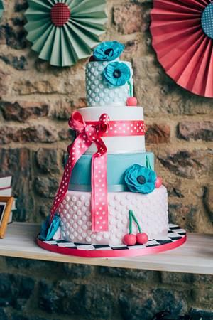 Rockabilly Wedding Cake - Cake by The Cheltenham Cakery