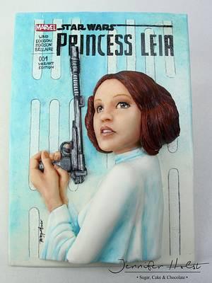 Cake Con International - Comic Book Edition - Princess Leia - Cake by Jennifer Holst • Sugar, Cake & Chocolate •