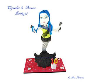 SIRENA - MONSTER HIGH - Cake by Ana Remígio - CUPCAKES & DREAMS Portugal