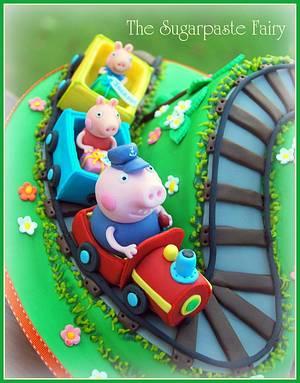 Grandpa Pig's train - Cake by The Sugarpaste Fairy
