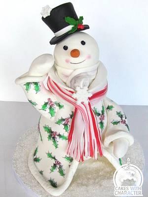 Village Snowman - Cake by Jean A. Schapowal