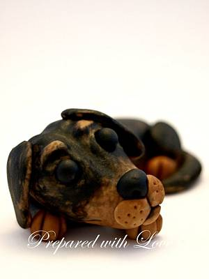 Two Rottweilers Fondant Cake Toppers - Cake by Prepared with Love