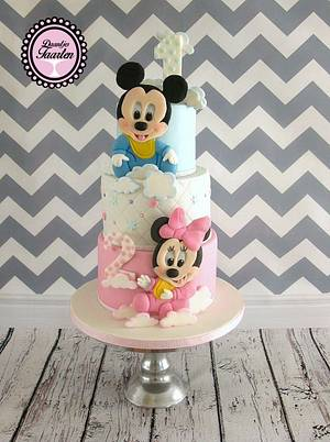 Sweet Mickey and Minnie - Cake by Daantje