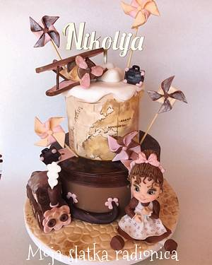 Love to travel cake - Cake by Branka Vukcevic
