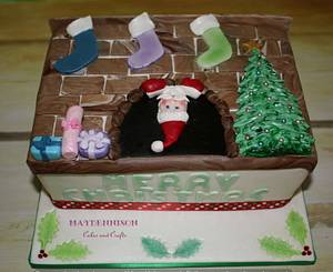 The Chimney Santa - Cake by Louise Neagle
