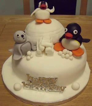 Pingu and friends - Cake by Rachel