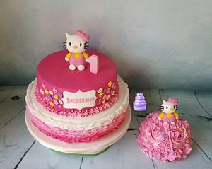 Hello Kitty - Cake by Pluympjescake