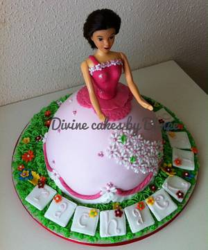 Princess in the garden cake - Cake by Divine cakes by Bimpe