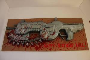 Lancer Assault Rifle! - Cake by Paul James
