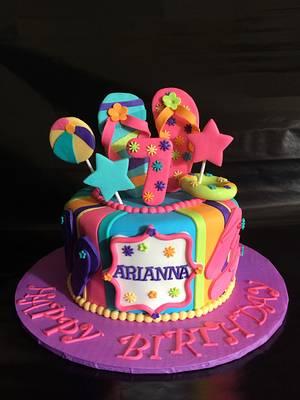 Pool party, summer fun in the sun Birthday Cake - Cake by Caroline Diaz