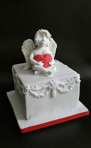 Valentine cake  - Cake by Olina Wolfs