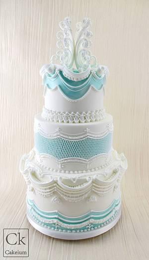 Lambeth Inspired Wedding Cake - Cake by Natasha Shomali