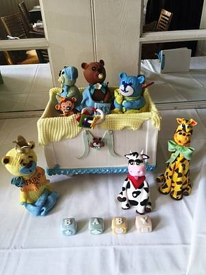 Toy Box Baby Shower - Cake by Fun Fiesta Cakes