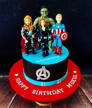 Avengers!  - Cake by Seema Tyagi