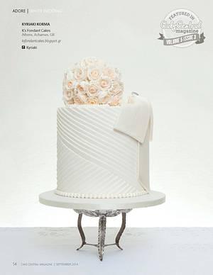 White Wedding Big Bows - Cake by K's fondant Cakes