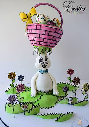 Silly Rabbit - Easter Coloring Book Collaboration - Cake by Cake Creations by ME - Mayra Estrada