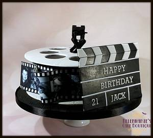 Film Reel Cake for a 21st - Cake by Helenmarie's Cake Boutique