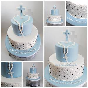 Communion Cake for a Boy - Cake by It's a Cake Thing