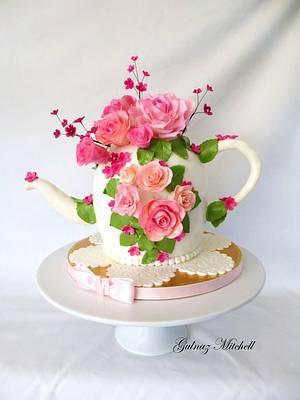 Teapot Cake - Cake by Gulnaz Mitchell