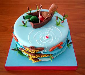 TARTA PESCA - Cake by Camelia