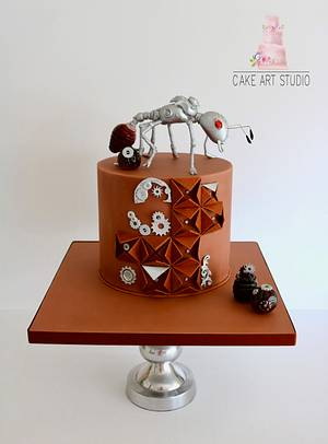 silver ant Steampunk Collaboration  - Cake by Cake Art Studio