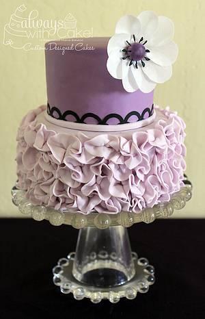 Purple Ruffle Mini Cake - Cake by AlwaysWithCake