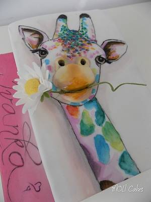 Colour Giraffe - Cake by MOLI Cakes