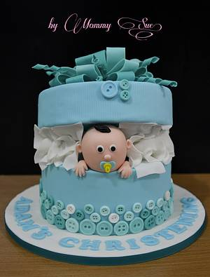Baby Boy in a Box - Cake by Mommy Sue