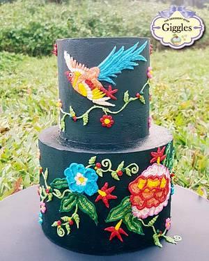 The Creative Flight - Caker Buddies Collab - Buttercream - Cake by gigglesdeessertstop