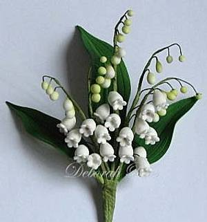 Lily of the valley gumpaste arrangement - Cake by Sugared Inspirations by Debbie