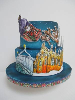 Santa is Coming to Dublin - Cake by Sugar Duckie (Maria McDonald)
