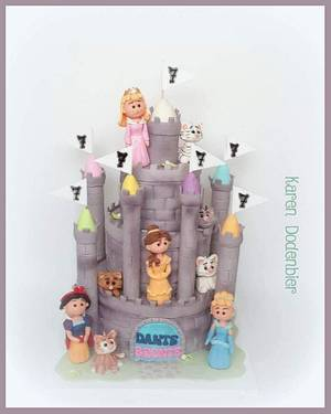 Princesses and cats - Cake by Karen Dodenbier