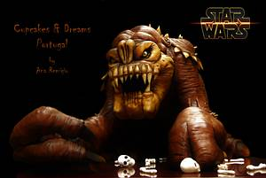 RANCOR - STAR WARS - THE BAKERS STRIKE BACK!! - Cake by Ana Remígio - CUPCAKES & DREAMS Portugal