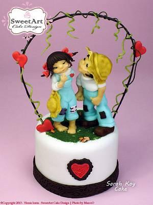 Sarah Kay - Love Cake - Cake by Ylenia Ionta - SweetArt Cake Design